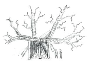 Jay Lincoln's cutaway sketch