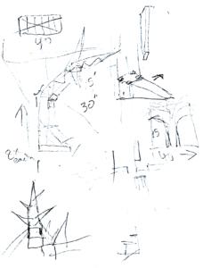 Antoni's temple model sketch